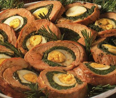 Rollè di spinaci e uova