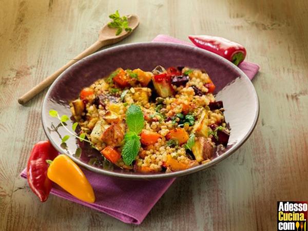 Cous cous di pollo e  verdure piccante