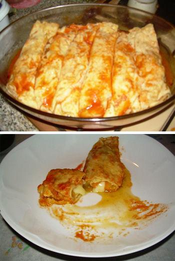 Cannelloni di crepes ai peperoni
