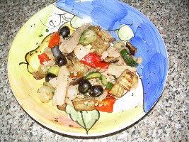Mix di tonno e verdure grigliate