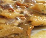 Dadolata di pollo con crema e funghi