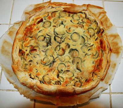 Torta salata alle  zucchine e roquefort
