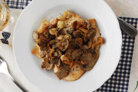 Scaloppine con funghi champignon