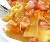 Tagliolini zucca e gamberetti