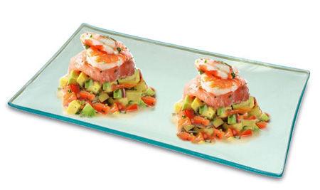 Antipasto di salmone e avocado
