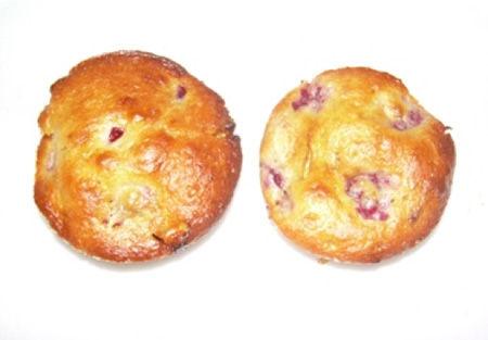 Muffin  ai lamponi e cioccolato bianco