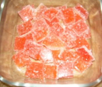 Gelatine alla frutta, caramelle