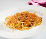 Bucatini con bottarga e cannellini