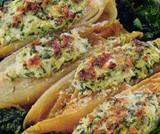 Barchette di indivia belga spinaci e ricotta