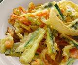 Tempura di carote, cipolle e zucchine