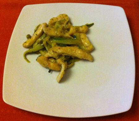Filetti di pollo con zucchine