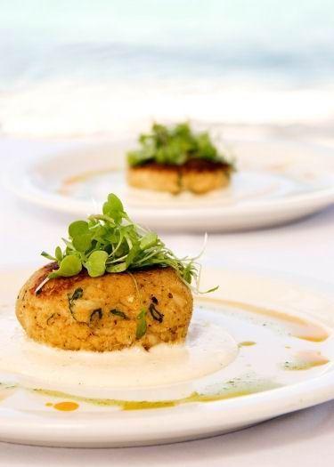 Sformatino morbido di miglio con formaggella fresca ed emulsione agli agrumi e prezzemolo