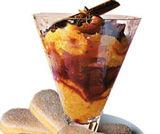 Coppa aromatica di arance e savoiardi