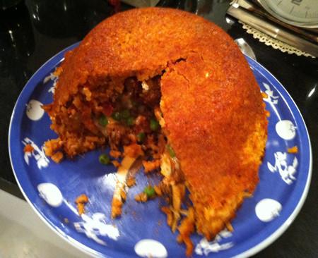 Sartù di riso alla napoletana