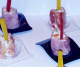 Sushi all'italiana, rotolini di prosciutto con insalata russa
