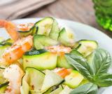 Carpaccio di zucchine e gamberetti