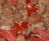 Insalata rustica di tonno, fagioli e pomodoro