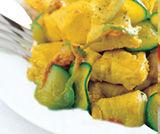 Spezzatino di pollo con zucchine paprika e zafferano