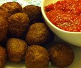 Polpette vegetali con sughetto di pomodoro