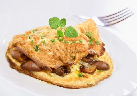 Omelette con funghi