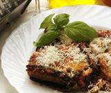 Sformato di carne e melanzane profumato al basilico
