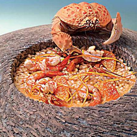 Risotto di arborio siciliano, crostacei e agrumi