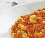 Gnocchi con sugo di fagioli e gamberetti