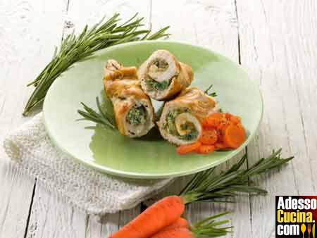 Rollè di tacchino con ripieno di verdure