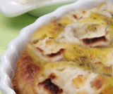 Clafoutis di patate e robiola