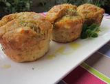 Muffin con feta e olive