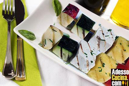 Spiedini al tofu e verdure