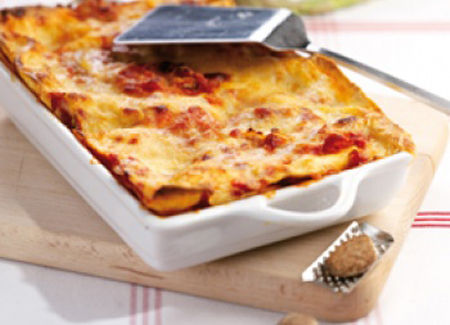 Lasagne al farro con ragù di seitan