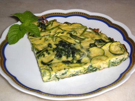 Frittata al tarassaco zucchine e menta