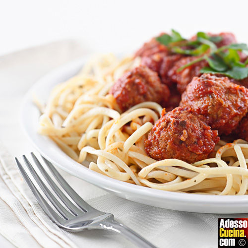 Spaghetti e polpettine