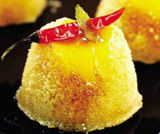 Budini di mango con sciroppo al peperoncino