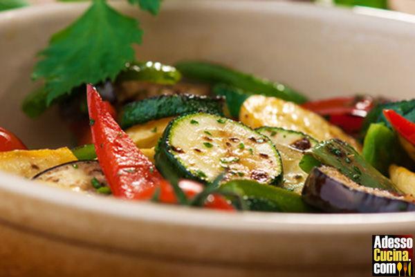 Pirofila di verdure al microonde