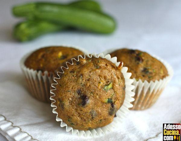 Muffins dolci con zucchine e uvetta - Ricetta