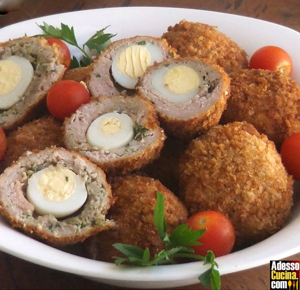 Polpette di pollo all'americana