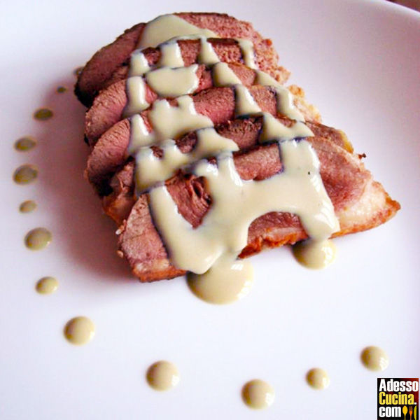 Roastbeef d'anatra al gorgonzola