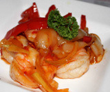 Gamberoni in salsa chili piccante