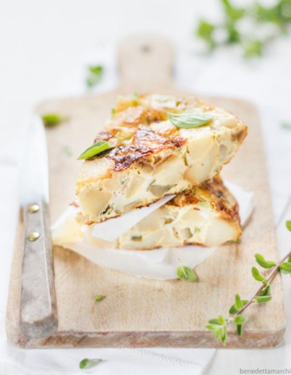 Tortilla patate e maggiorana - Ricetta