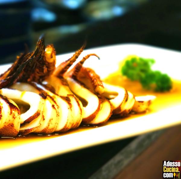 Calamari con senape e pepe rosa