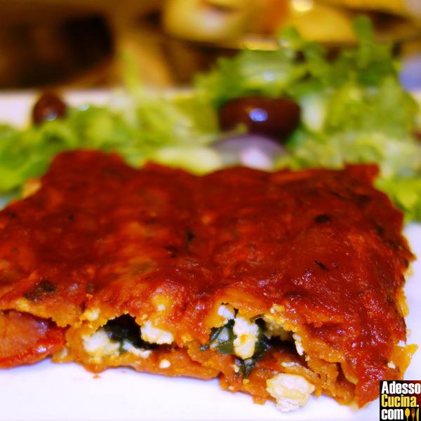 Cannelloni con tofu e spinaci - Ricetta