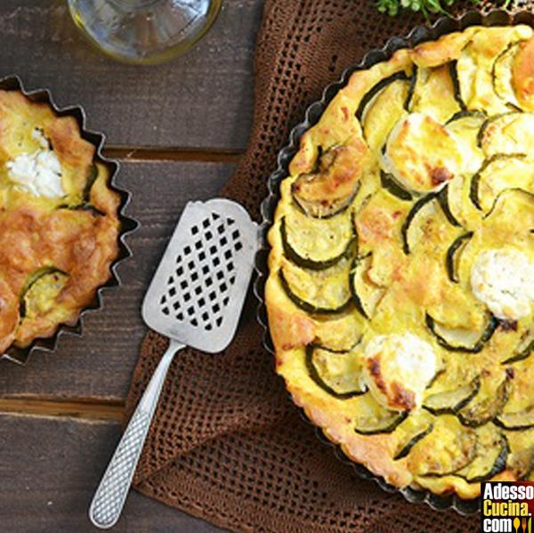 Clafoutis di zucchine e formaggio di capra