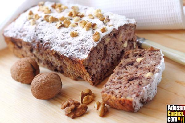 Plumcake alla banana, noci e cioccolato fondente - Ricetta