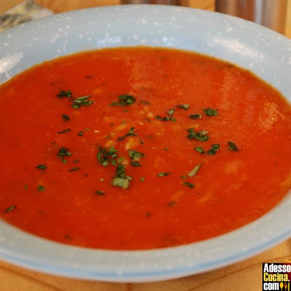 Crema di pomodoro e riso alla portoghese