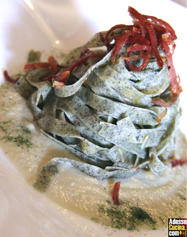 Tagliatelle di grano saraceno con fonduta - Ricetta