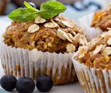 Muffin ai mirtilli e fiocchi di avena