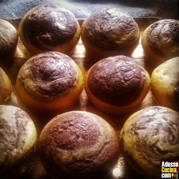 Muffin variegati alla nutella - Ricetta