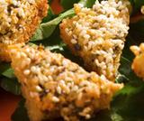 Tofu fritto con sesamo